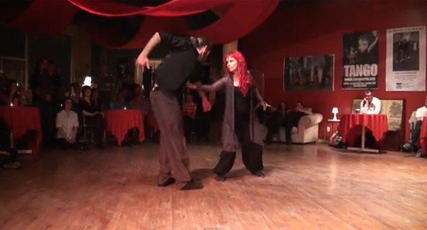 Nancy Lavoie and Yannick Allen-Vuillet at Festival Queer Tango Montreal 2014