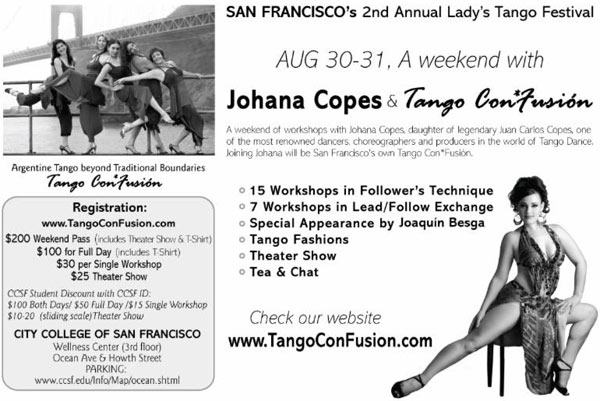 California – 2nd Annual Lady's Tango Festival