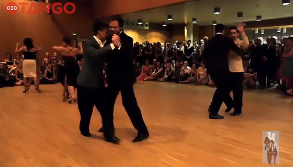 The teachers dance at Łódź Tango Salon Festival2014