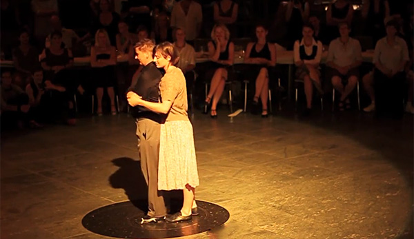 Astrid Weiske and Erica Atnip at The Queertango Festival Berlin 2014.