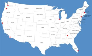 Map of Queer Tango in USA