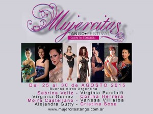 Mujercitas Tango Festival invitation 2015