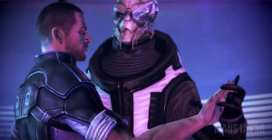Garrus and Male Shepard Tango