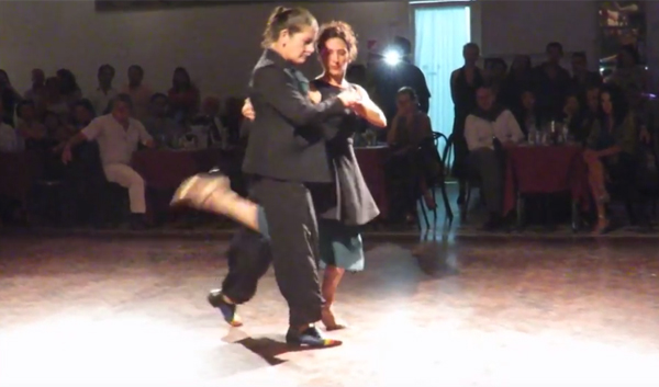 Soledad Nani and Romina Pernigotte at Milonga Parakultural