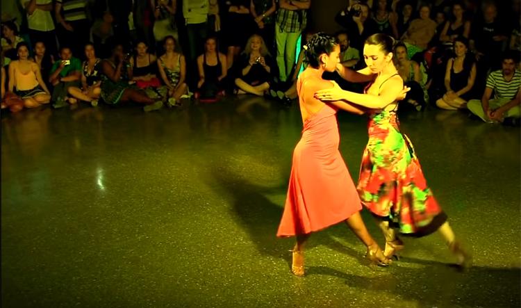 Corina Herrrera and Ines Muzzopappa at El Palais de Glace Buenos Aires (2015)