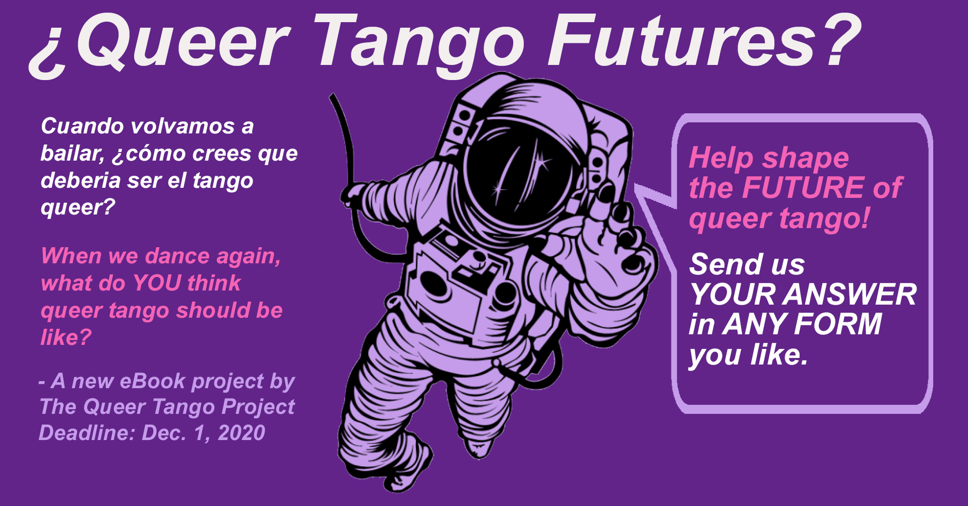 ¿Queer Tango Futures? – What should queer tango be like in the future?