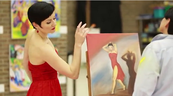 An Artist's Dream ~ Lady In Red