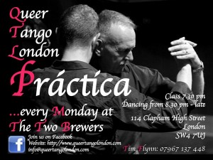 Queer Tango in London's flyer 2014