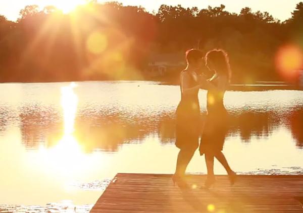 "Mayte Vicens and Julia Juliati – ""Tango On A Lake"""