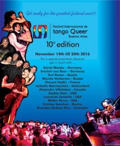10. Festival Internacional de Tango Queer, Buenos Aires 2016