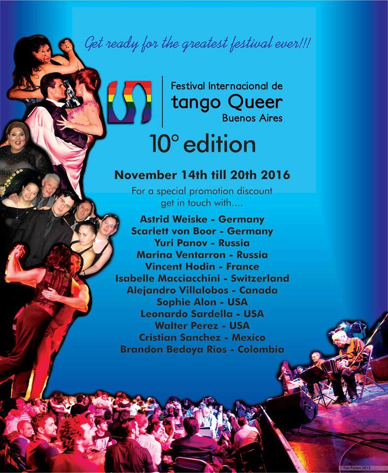 Festival Internacional de Tango Queer, Buenos Aires, 2016