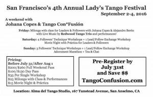 Lady's Tango Festival, USA - details