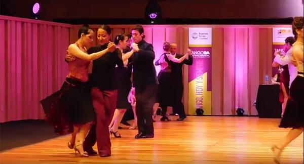 Diana Cortés and Olga Santamaría at the Mundial de tango 2016