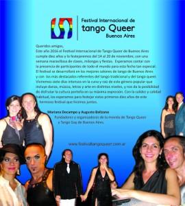 Festival Internacional de tango queer en Buenos Aires 2016