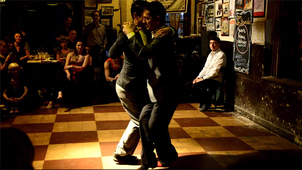 Edgardo Fernández Sesma and Carlos Blanco Dancing Tango Milonguero