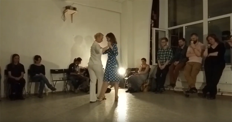 Lena Andreeva and Julia Karalkina at the 8. Anniversary of Queer Tango in Russia