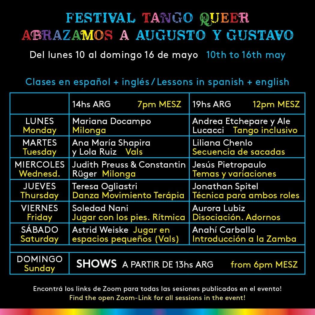 Online Tango Festival: Abrazamos a August y Gustavo